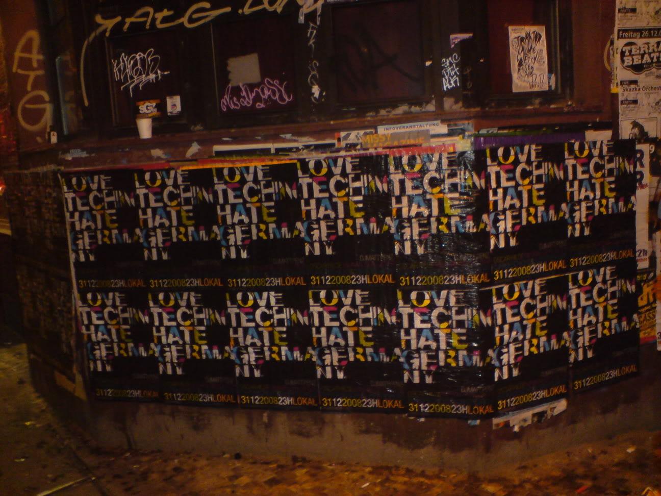 love techno - hate germany plakatwand 2008